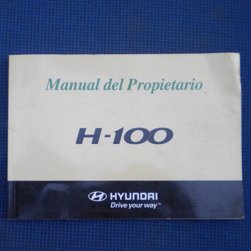 manual del propietario hyundai h-100, edicion 2007