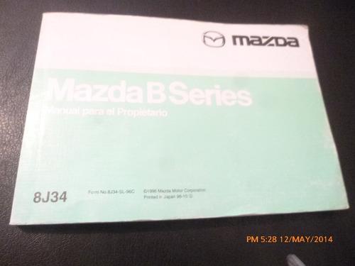 manual del propietario mazda b series 1986 (c-19