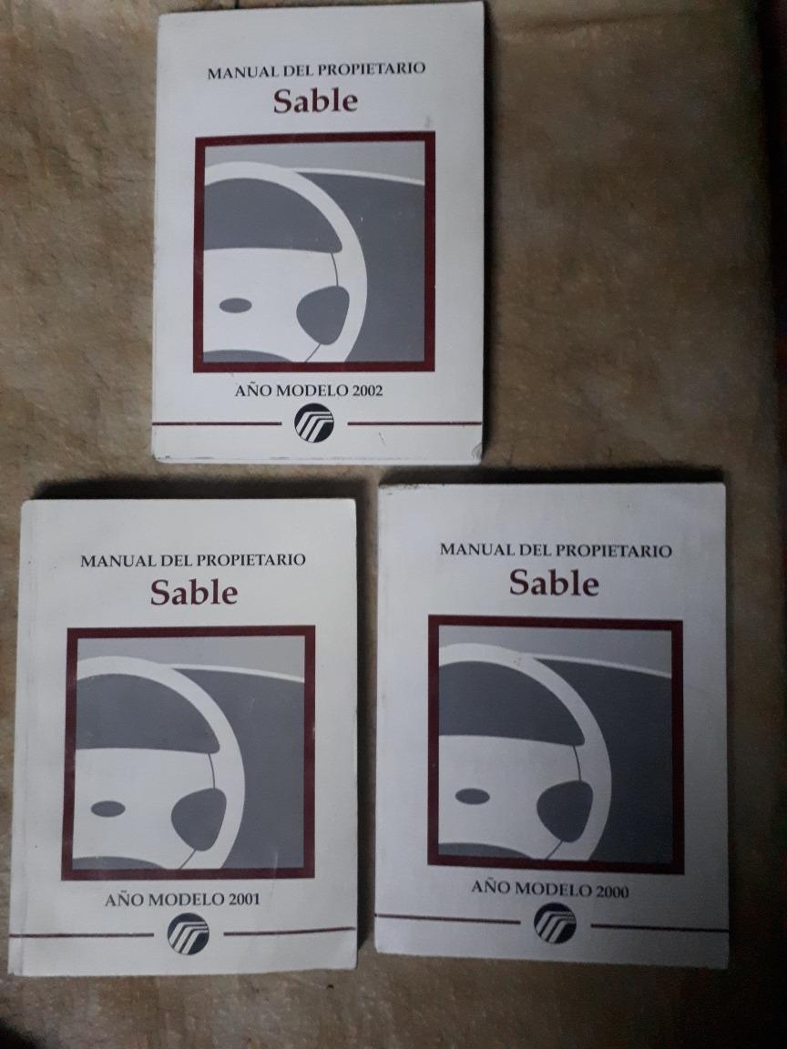 manual mercury sable 2000 español
