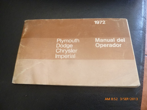 manual del propietario o conductor chrysler imperial (c-21