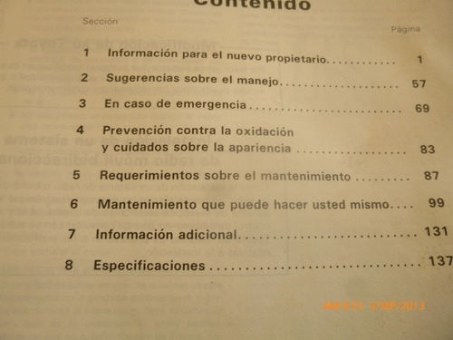 manual del propietario o conductor toyota corona fwd(c-20