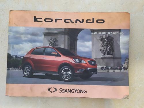 manual del propietario ssangyong korando 2011 al 2014
