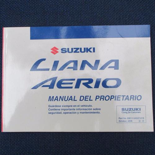 manual del propietario suzuki liana aerio 2006