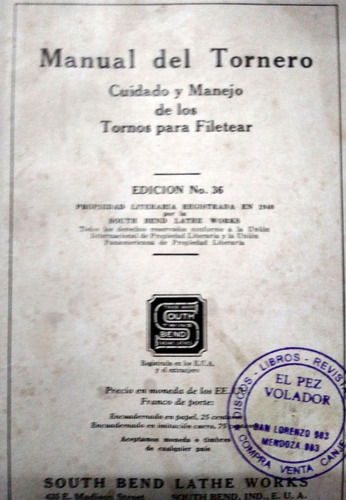 manual del tornero south bend lathe works
