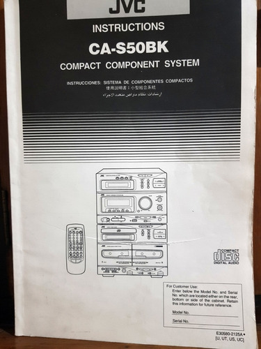manual del usuario audio jvc ca-s50bk