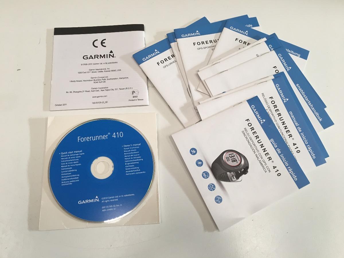 manual del usuario + cd instalación garmin forerunner 410. Cargando zoom.