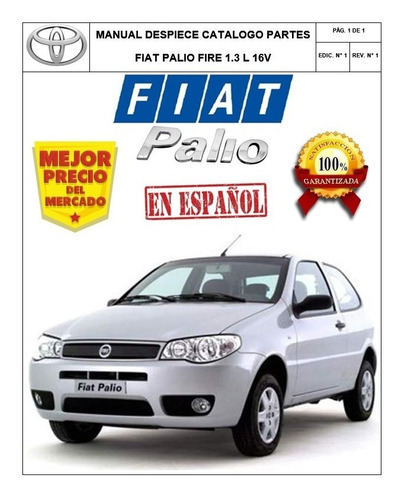 manual despiece catalogo partes fiat palio fire 1.3 16v esp