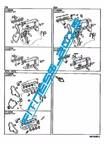 manual despiece catalogo toyota camry 1982 - 1986 español