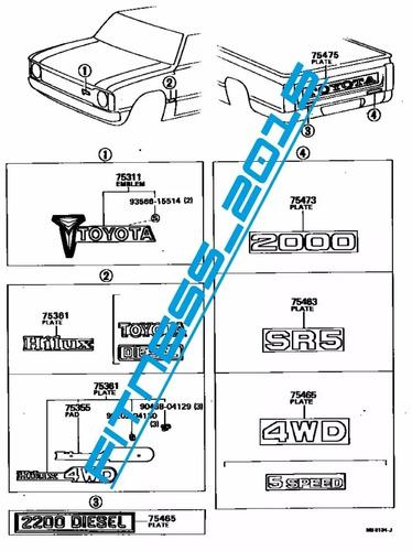manual despiece catalogo toyota hilux 1978 - 1984 español