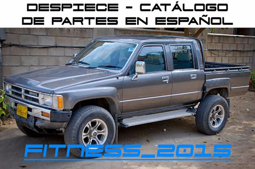 manual despiece catalogo toyota hilux 1983 - 1998 español