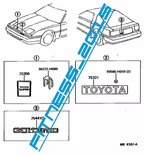 manual despiece catalogo toyota supra 1986 - 1988 español
