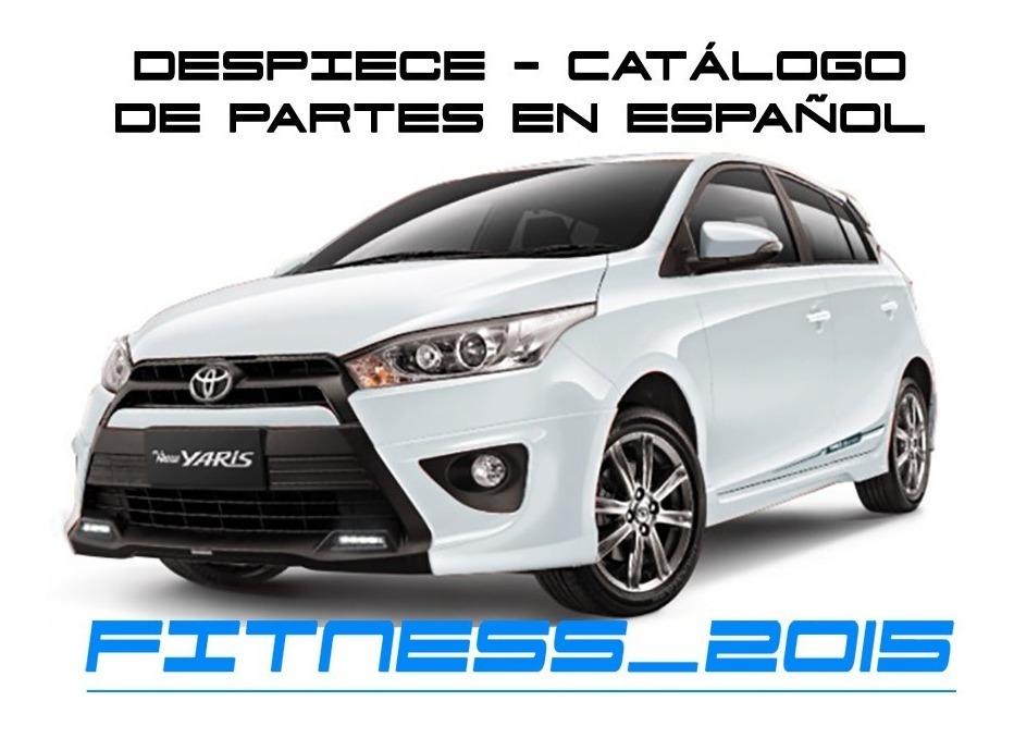 Manual Despiece Catalogo Toyota Yaris 2013 2018 Español