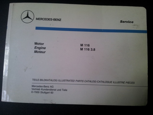 manual despiece motor mercedes benz original m116/m116 3.8