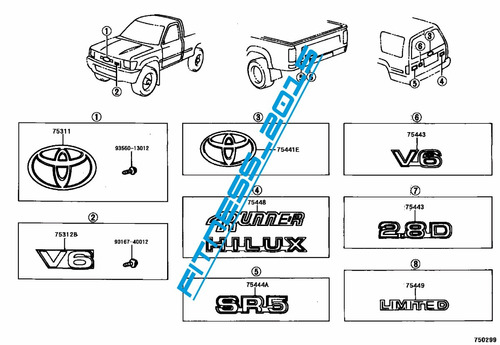 manual despiece toyota hilux 4runner 4wd 1988 2004 español