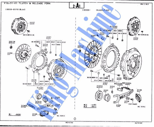 manual despiece  toyota land cruiser fj60 hj60 bj60 84-1987