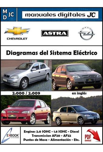 manual diagramas electricos chevrolet astra 00-09 esp