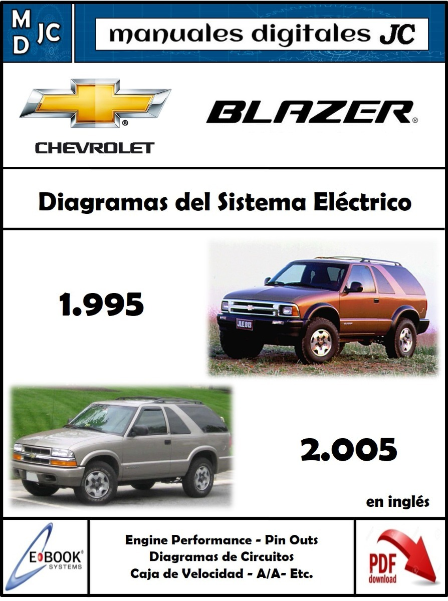 95 blazer service manual array manual diagramas sistema electrico chevrolet blazer 95 2005 s 15 rh articulo mercadolibre com fandeluxe Choice Image