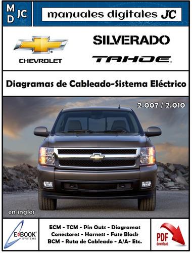manual diagramas sistema eléctrico silverado tahoe 2007-up