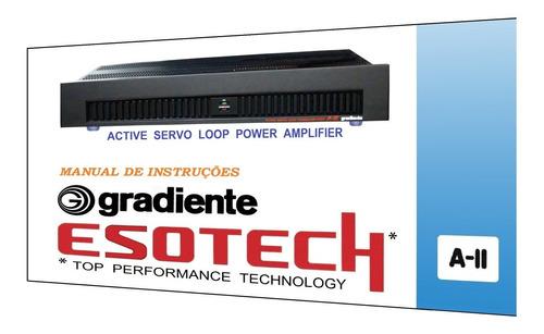 manual do amplificador gradiente esotech a-ii (colorido)
