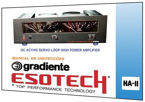 manual do amplificador gradiente esotech ha-2 (a cores)