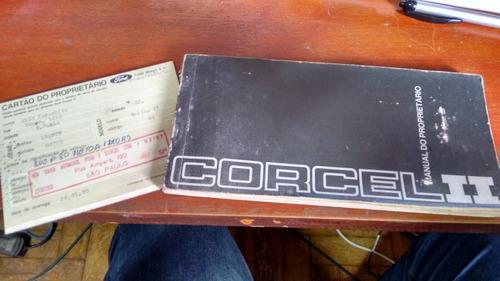 manual do corcel ii de 1980 com nota certificando compra