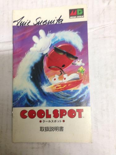 manual do jogo de mega drive cool spot