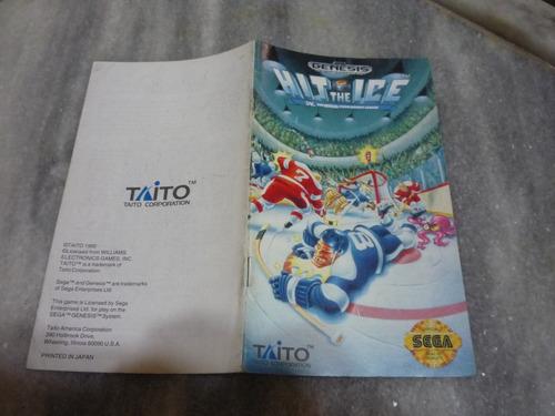 manual do jogo hit the ace - original p/megadrive (genesis)