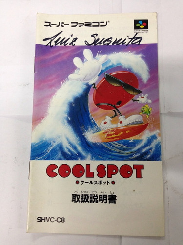 manual do jogo snes famicom cool spot