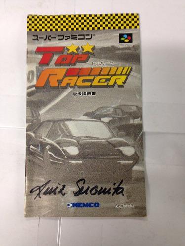manual do jogo snes famicom top racer ( top gear )