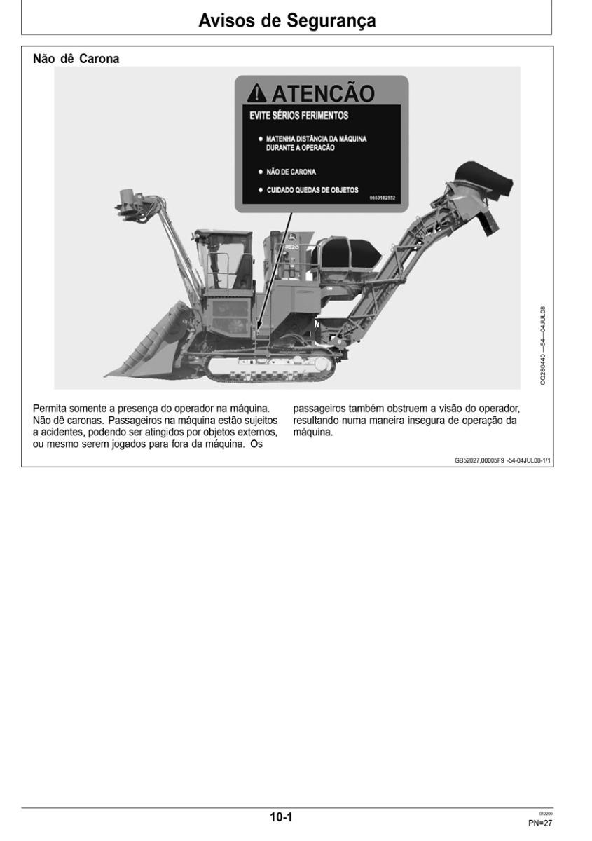 Manual Do Operador Colhedora De Cana John Deere 3520 3522 R 1599 3320 Fuse Box Diagram Carregando Zoom
