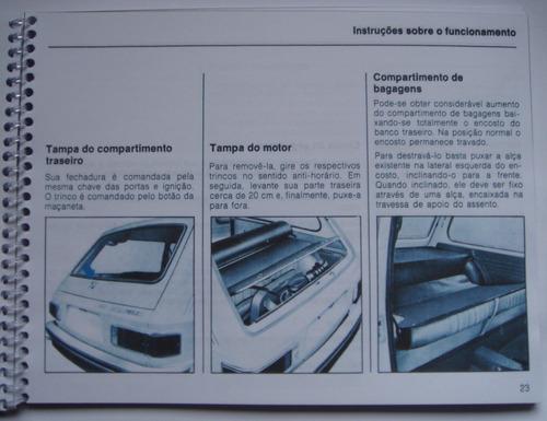 manual do proprietário brasilia 1976