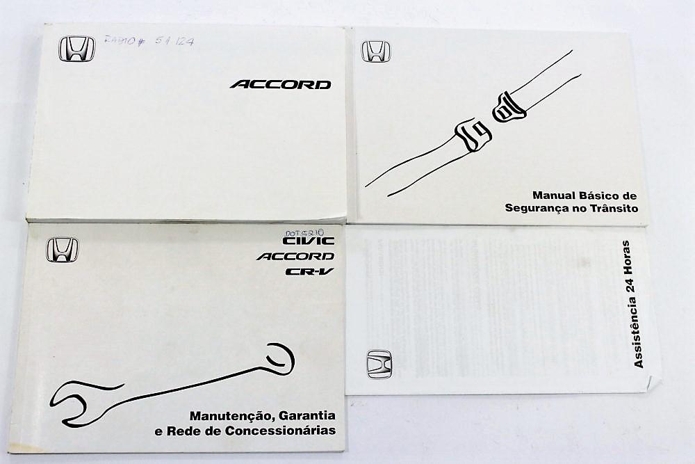 Manual Do Proprietário Completo Honda Accord Ano 2004. Carregando Zoom.