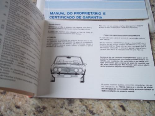 manual do proprietário do alfa romeo