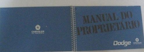 manual do proprietário do dodge 1973  repro
