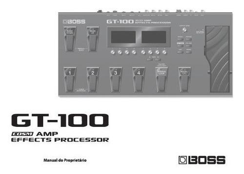 manual do proprietário do gt-100 boss
