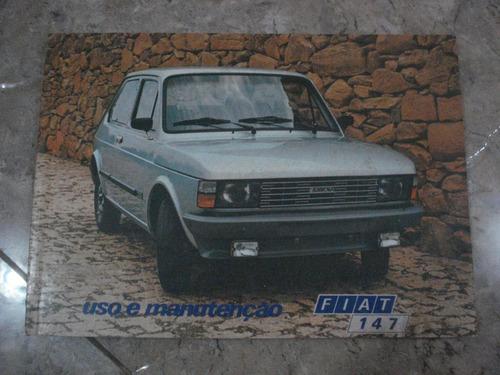 manual do proprietário fiat 147 rally gls gl l ano 1980