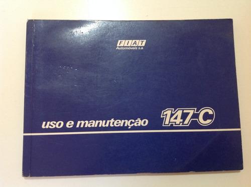 manual do proprietário - fiat 147c 1984 - original!