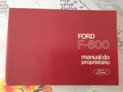 manual do proprietário - ford f- 600 1973