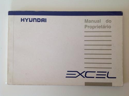 manual do proprietário - hyundai excel 1993