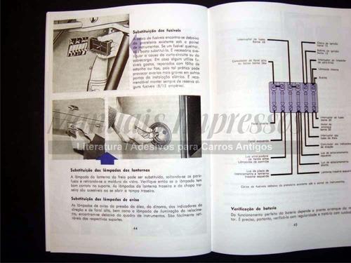 manual do proprietário kombi 1963 + brinde