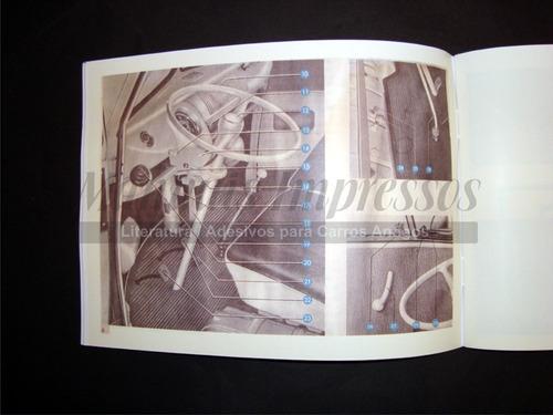 manual do proprietário kombi 1967  + brinde + frete grátis