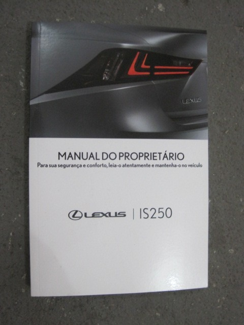 Manual Do Proprietário Lexus Is250 (cx 160/11)