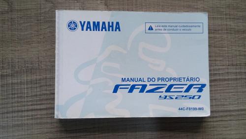 manual do proprietario moto yamaha fazer ys 250