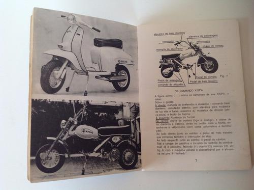manual do proprietário motoneta pasco e xispa em branco-raro