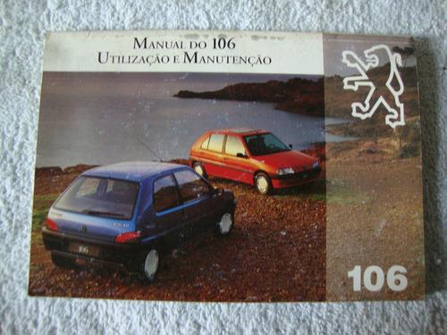 manual do proprietário peugeot 106 .anos 95/96.