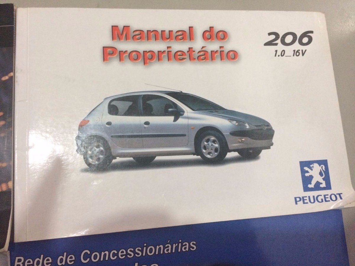 manual do proprietário peugeot 206 1.0 16v. Carregando zoom.