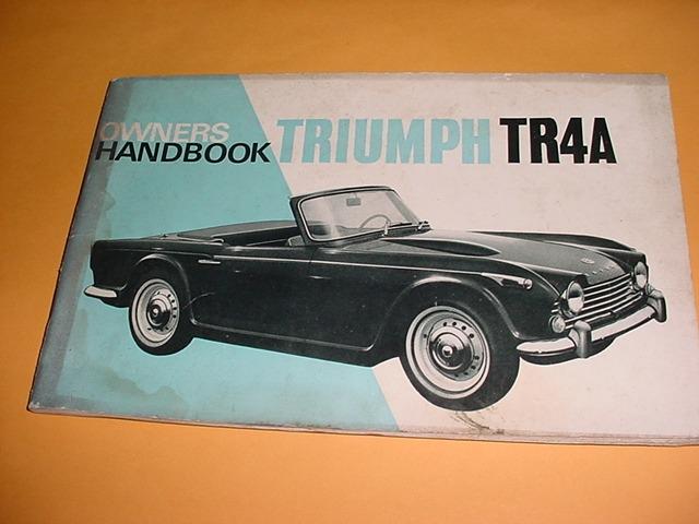 Manual Do Proprietario Triumph Tr4 A Original R 29900 Em