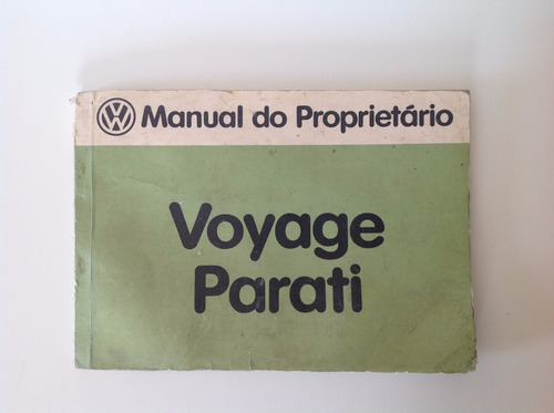 manual do proprietário - volkswagen parati 1983 - original!