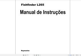 Manual Do Raymarine L265 Fishfinder Em Português