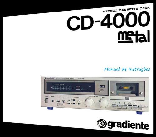 manual do tape deck gradiente cd-4000 (cópia colorida)